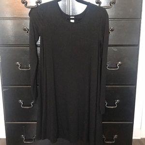 Black flowy swing dress
